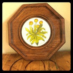 ♻️ Goodwood dandelion cheese tray / trivet / decor